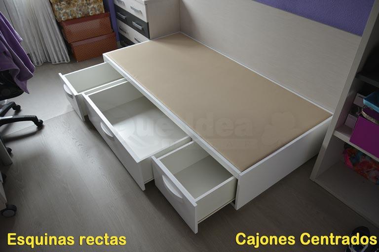 Canapé de madera Cajones Laterales