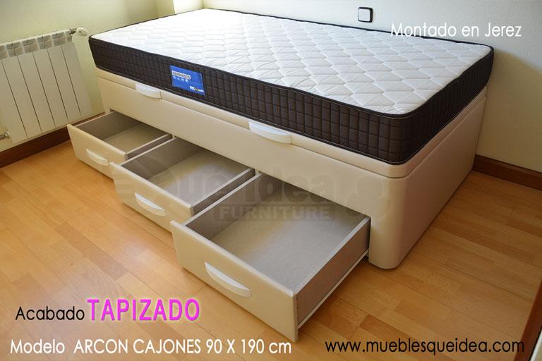 Camas nido camas supletorias cama div n con cajones for Cama divan con cajones