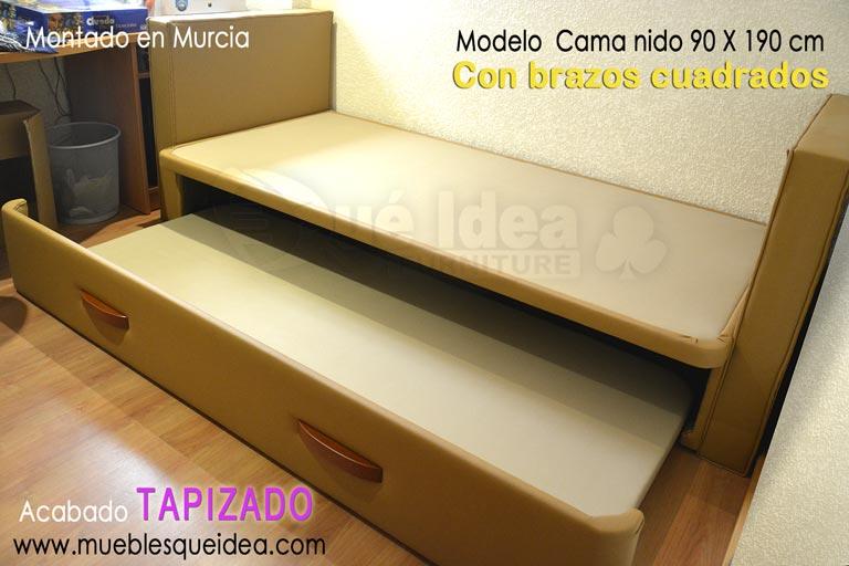Camas nido camas supletorias cama div n con cajones for Divan cama con cajones 1 plaza