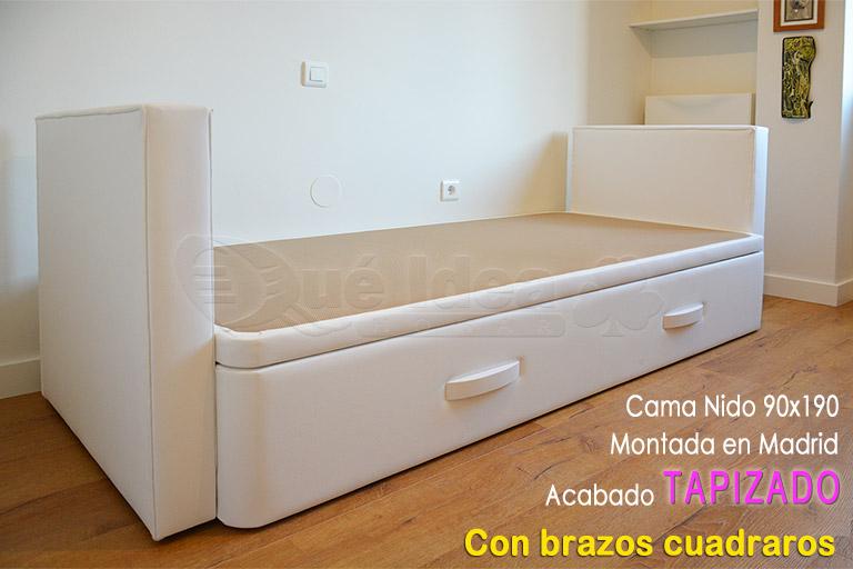 Camas nido camas supletorias cama div n con cajones for Cama nido oferta madrid