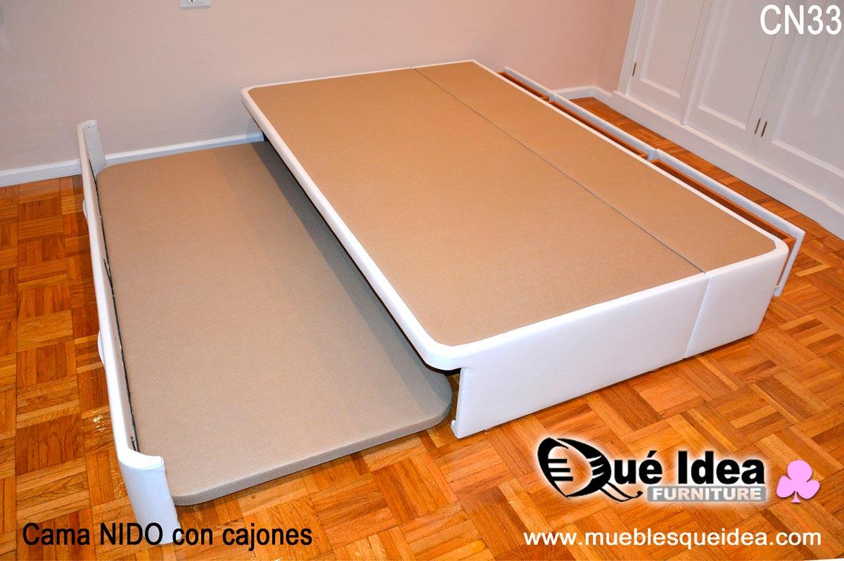 Camas nido a medida for Precio de cama nido con cajones
