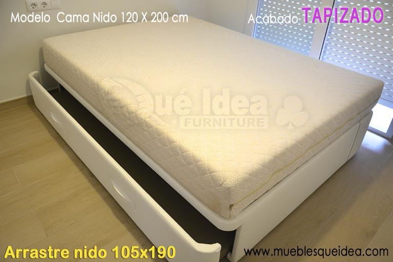 Cama nido 105 x 190 cama nido siros x cm with cama nido for Cama nido de 105 con cajones
