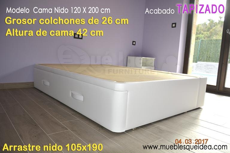 Cama nido blanca con cajones cama nido blanca madera - Banak importa sevilla ...