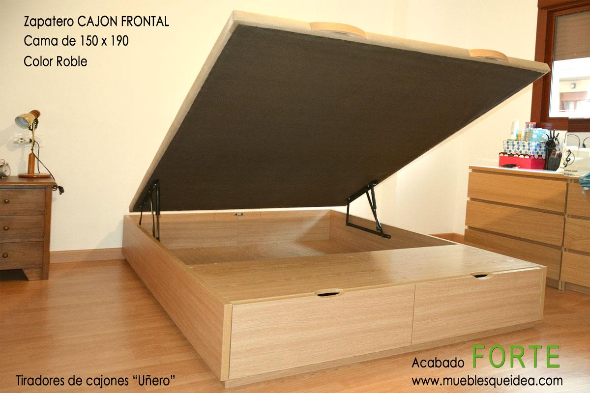 Cama con zapatero muebles qu idea for Zapatero color roble