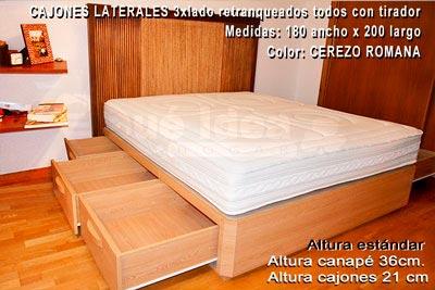 Camas con cajones informaci n preguntas sobre cama con for Camas con cajones debajo