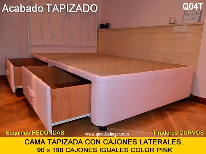 Canap con cajones qu idea hogar for Cama individual con cajones