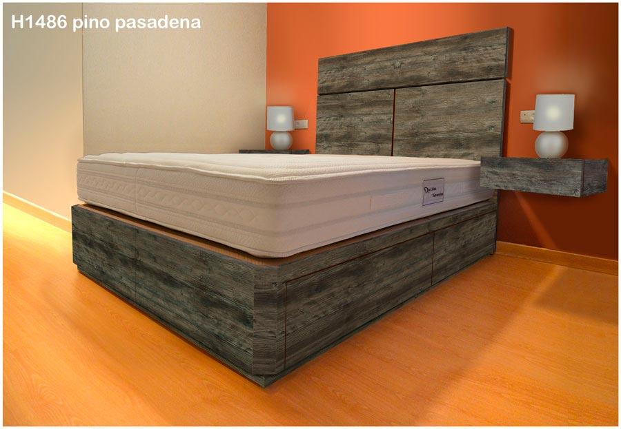 Canapé de madera con cajones  Muebles Qué Idea